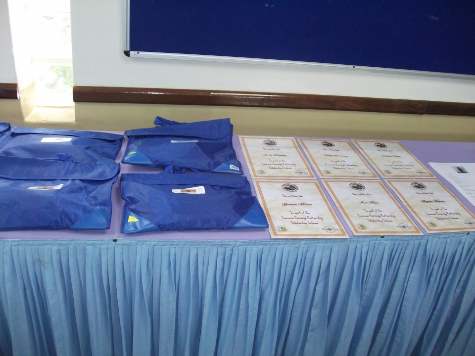 Education Packs Given to Scholarship Recipients