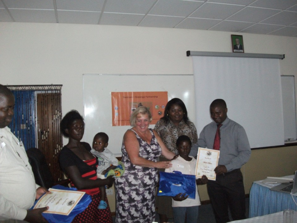 Presenting Mutinta With Her Scholarship Pack