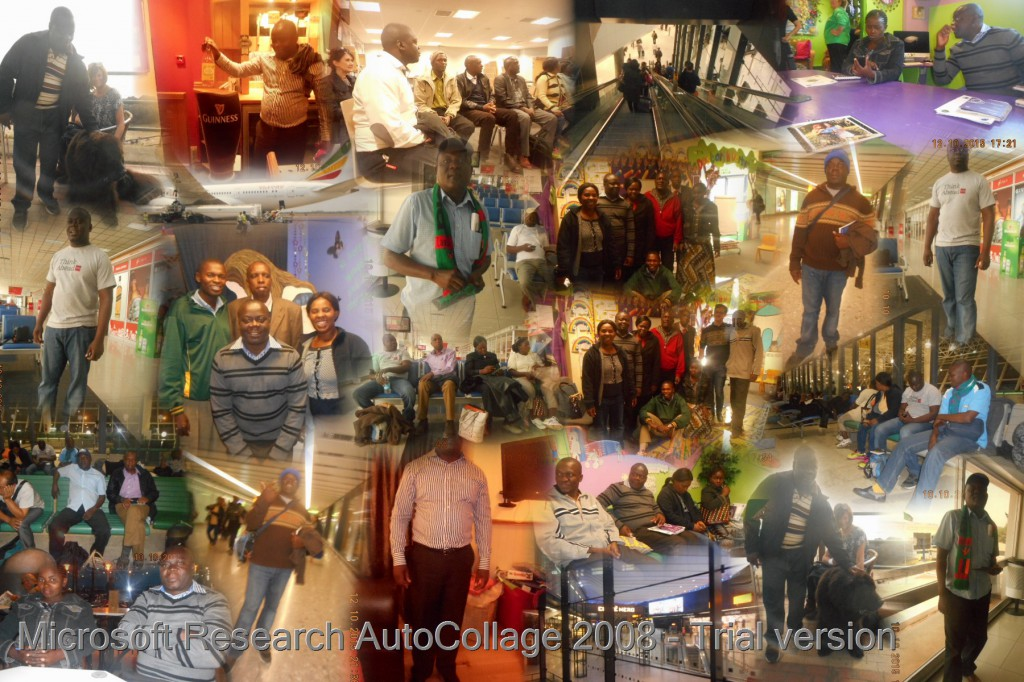 A collage of photos from teachers' visit